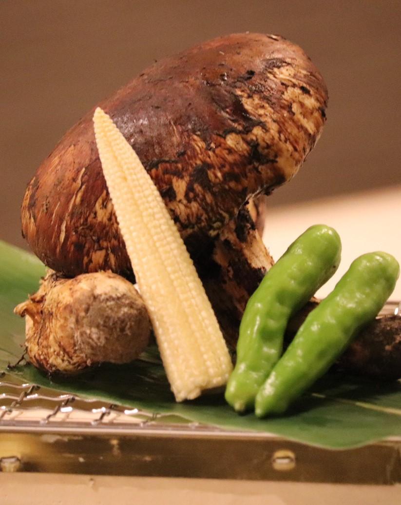 松茸のあぶり焼き